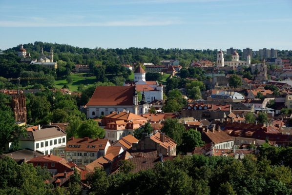red roofs of Vilnius panorama