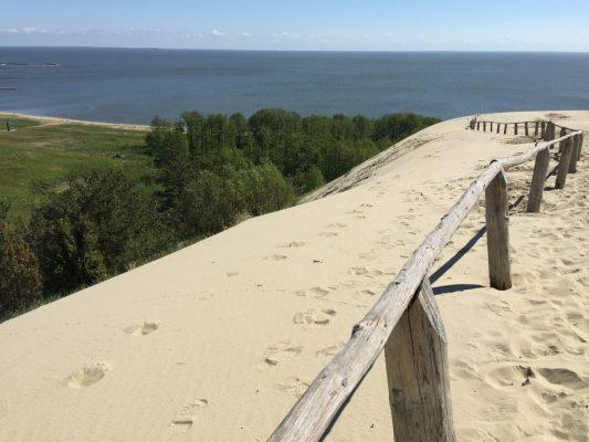 sand dunes of the Baltic sea coast