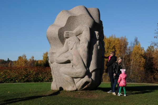 big stone man in Turaida sculpture park
