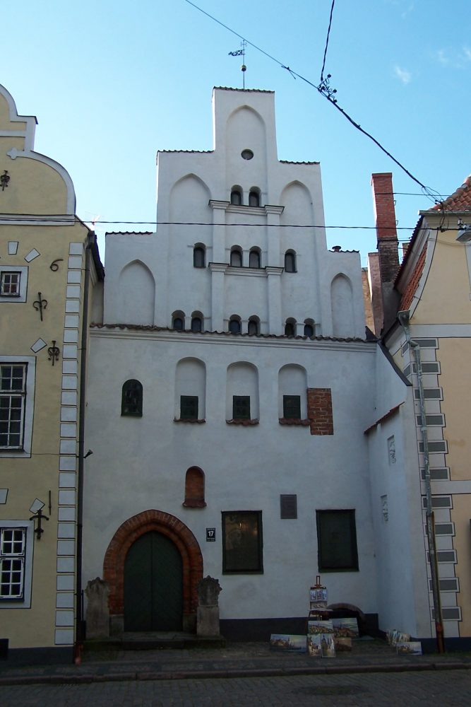 Building constructed in 15th cent. The oldest of Riga Three brothers