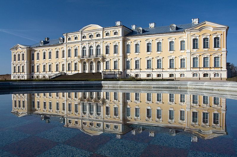 Rundale palace, in the park