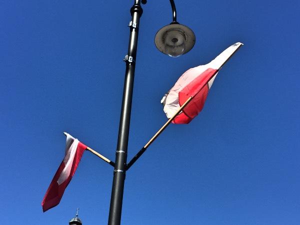 Polish Flag in Suwalki