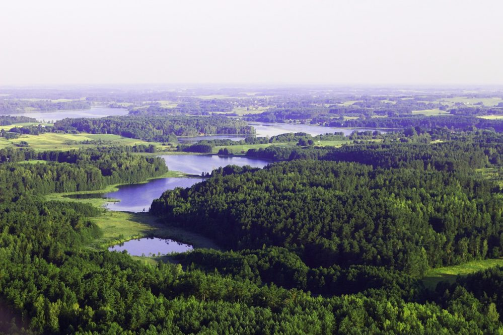 Lithuania countryside lakes