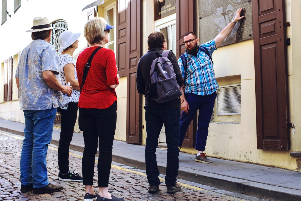 William Zitkauskas Guiding Vinius Tour Guide