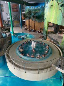People in a swimming pool in Aqua Park in Druskininkai