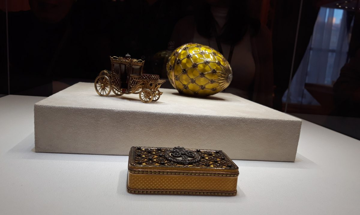 A golden egg in Faberge Museum