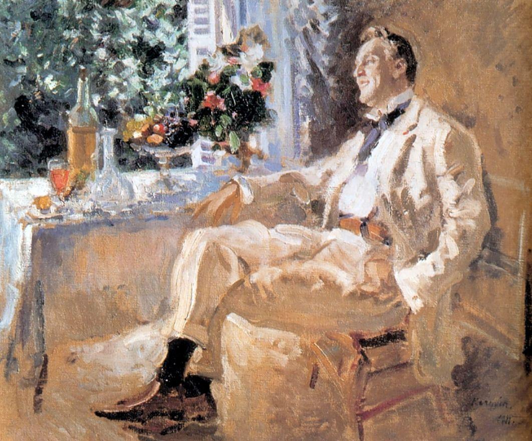 ציור פיודור שאליאפין מאת צייר רוסי קורובין