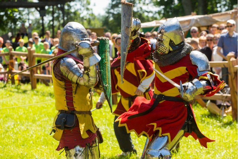 Battle of the Knights at the Medieval Festival in Trakai Castle