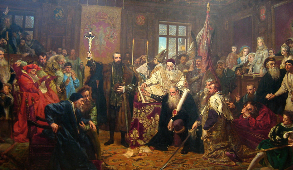 The Union of Lublin by Jan Matejko